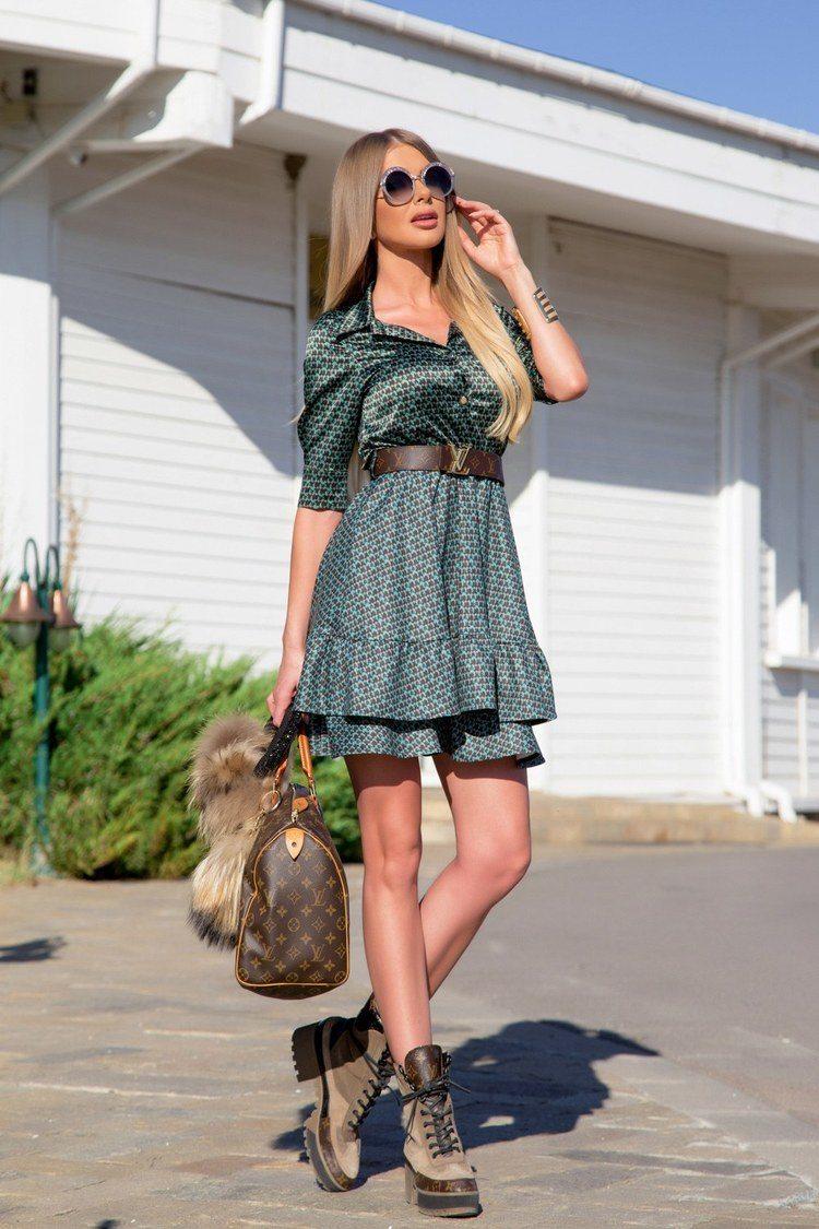 On the spotlight ruffles рокля