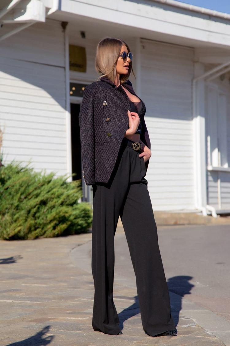 Alessa loves you панталон - черен