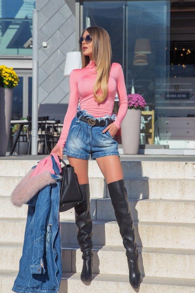 Style practice блуза-поло - пудра