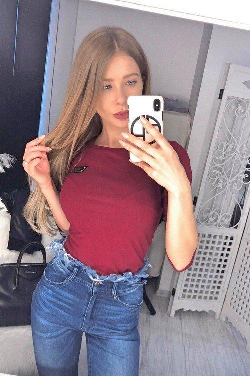 Alessa Everyday блуза с 3/4 ръкав - бордо