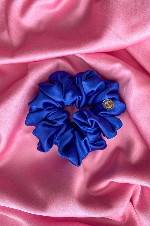 Кобалтово синьо скрънчи - голямо