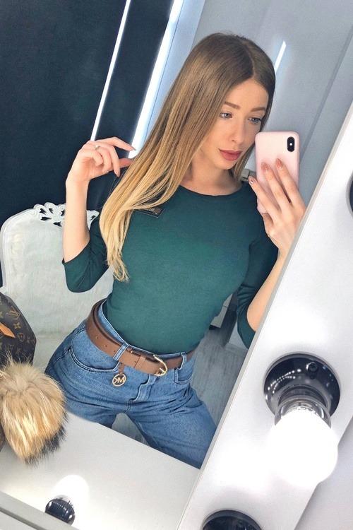 Alessa Everyday блуза с 3/4 ръкав - зелена