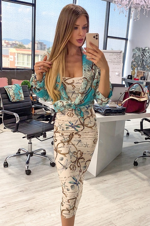 All I Want Is A Yacht midi рокля - Beige