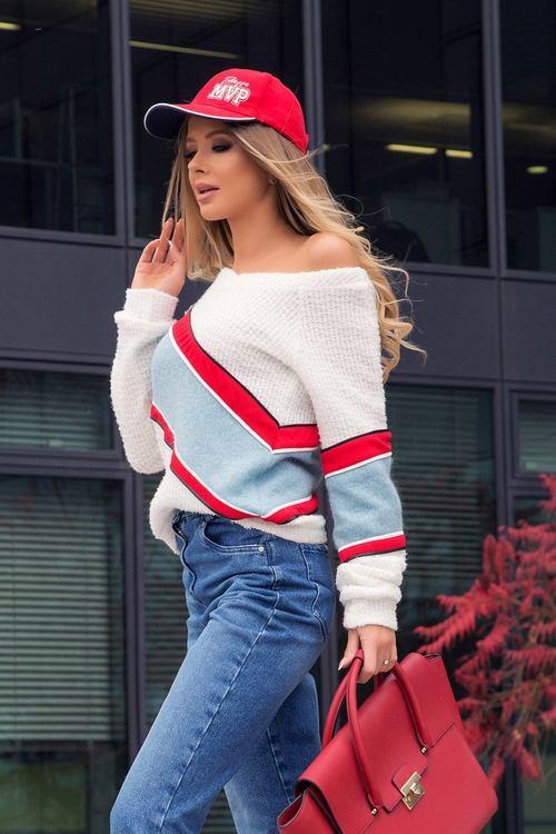 Soft Mix открояващ се пуловер