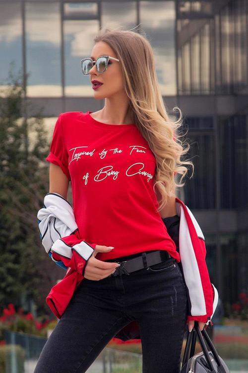Never average тениска - червено