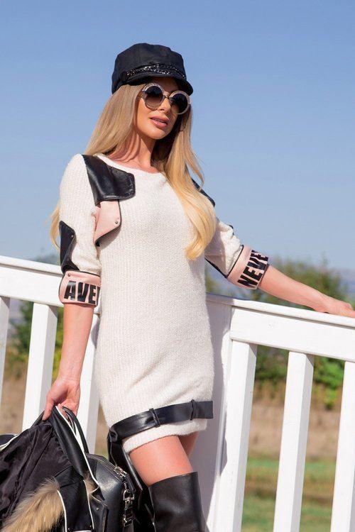 Top top girl рокля от меко плетиво