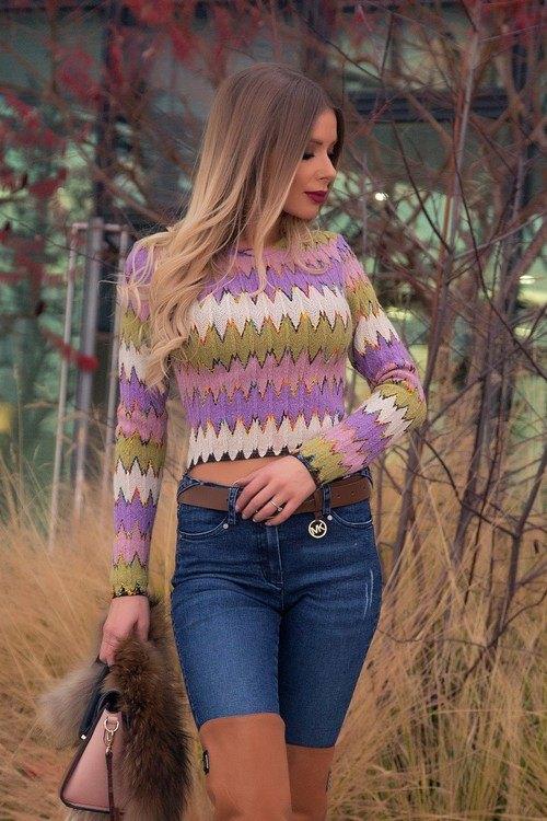 New Friends есенен пуловер - къс