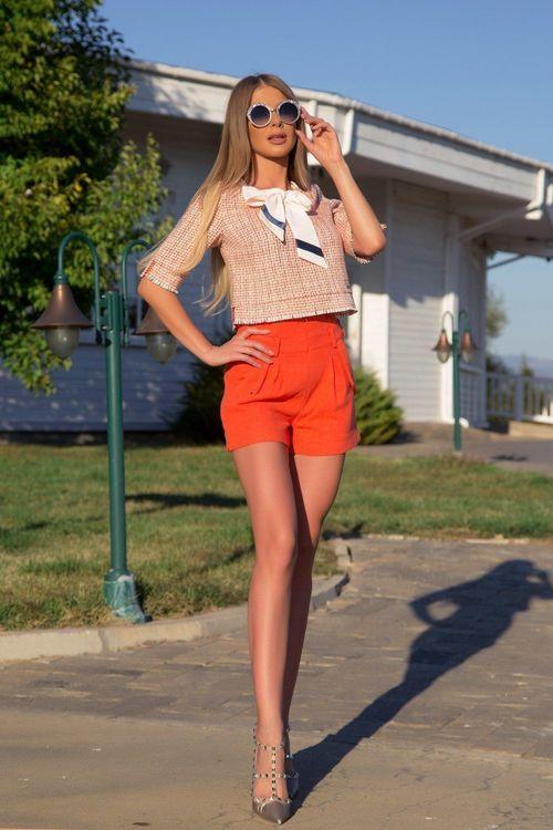 I make it hot кашмирен панталон - orange