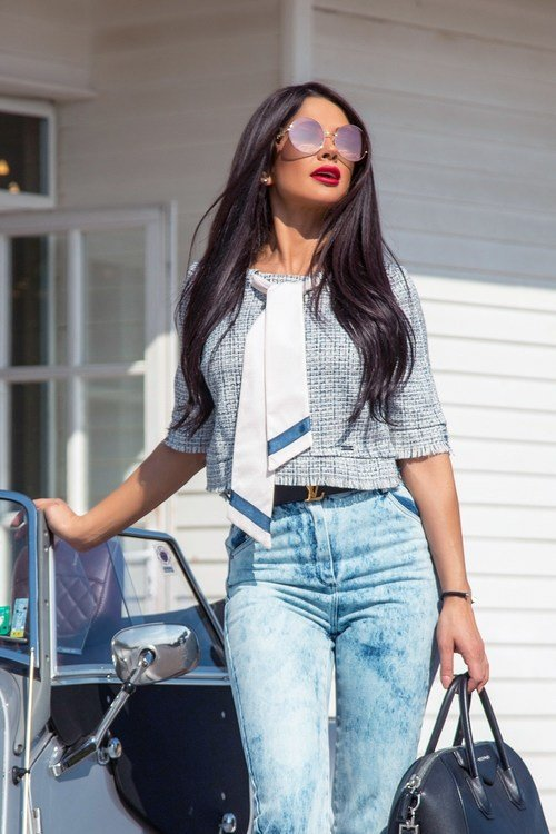 Beauty and smarts блузка от букле - blue