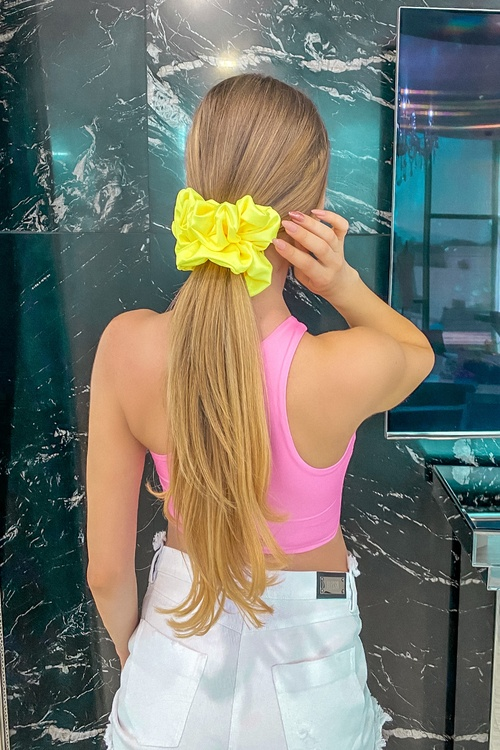 Жълт неон скрънчи - голямо