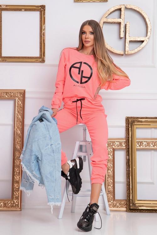 Keep your focus блуза - розов неон