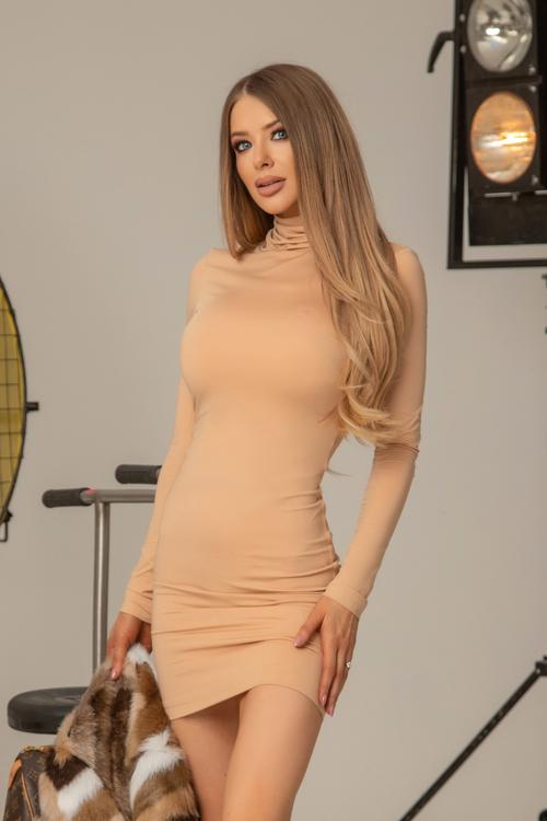 Dope Alessa bodycon рокля - nude