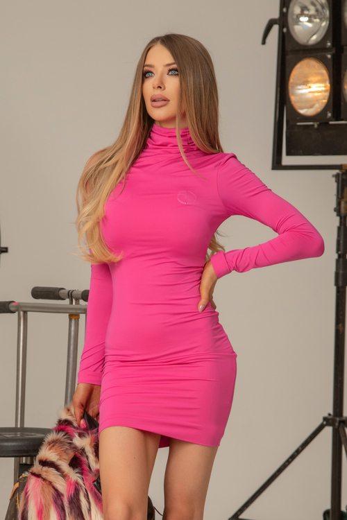 Dope Alessa bodycon рокля - фуксия