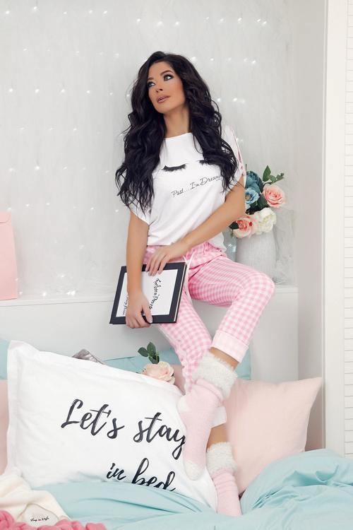 Checkmate дълъг панталон - розово