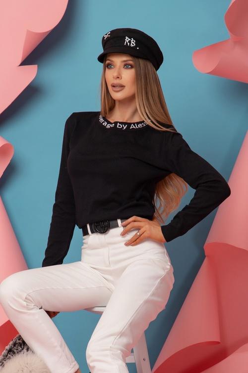 Sweet Disguise Пуловер От фино Плетиво - Черен