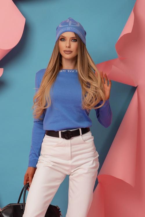 Sweet Disguise Пуловер От фино Плетиво - Sky Blue