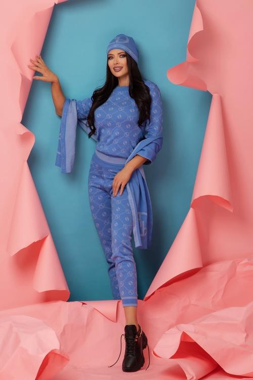 Alessa Religion Панталон От Плетиво - Sky Blue