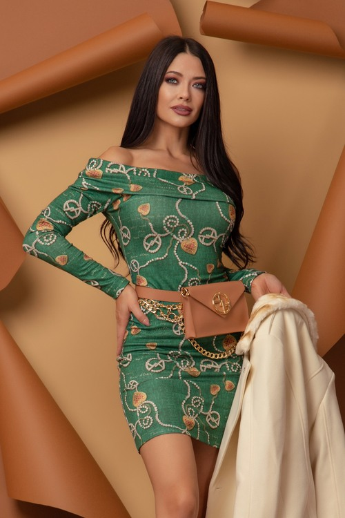 Chains and Charms Body Bodycon Рокля от плетиво