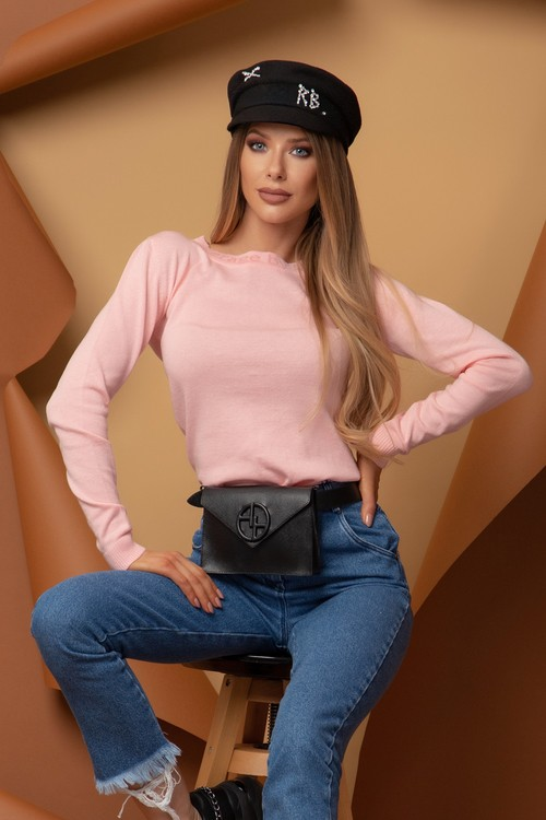 Sweet Disguise Пуловер От фино Плетиво - Sweet Pink