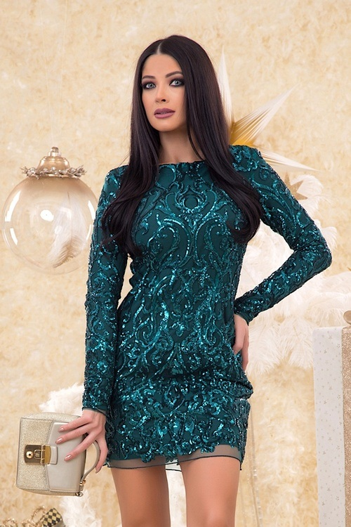 Imperial Emerald рокля с пайети