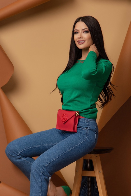 Sweet Disguise Пуловер От фино Плетиво - Bright Green