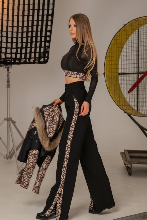 Alessa luxury панталон с широк крачол