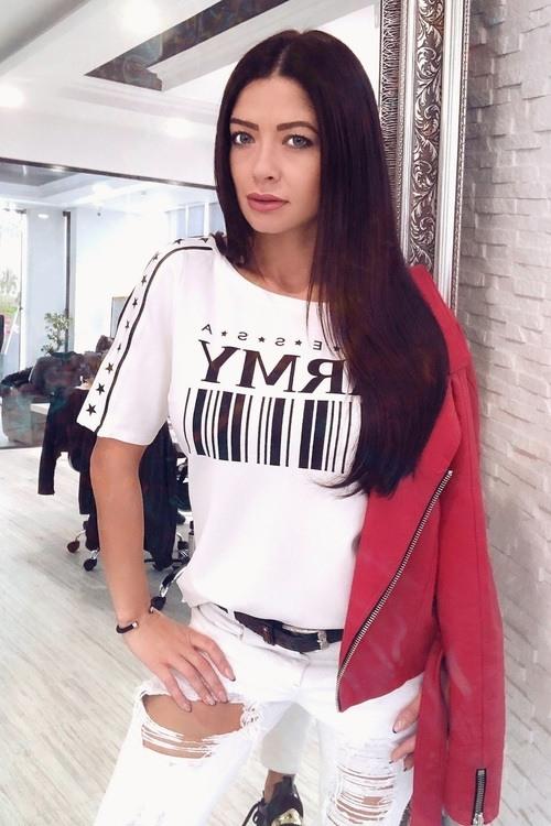 Alessa Army street блуза - бяло