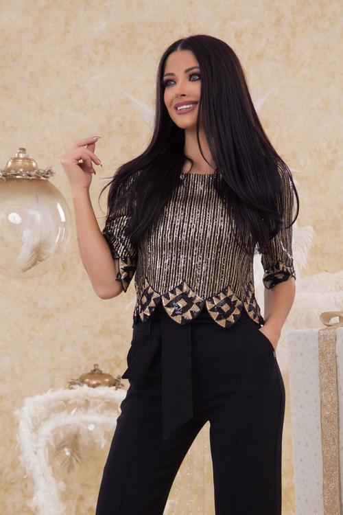Alessa presence златна блуза
