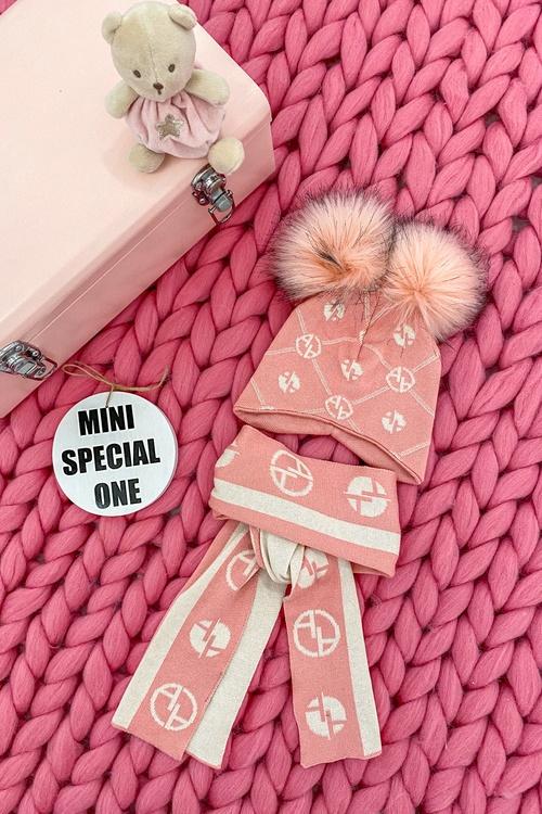 Аlessa mini Religion шапка от плетиво - pink