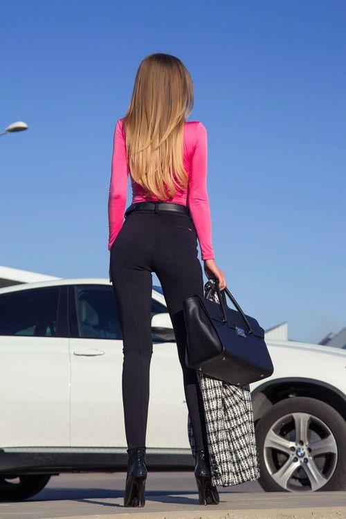 Never overlook me панталон с висока талия