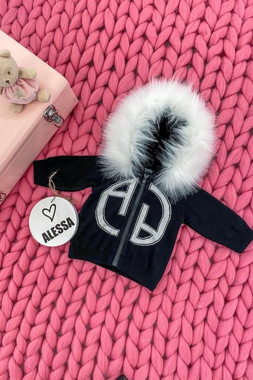 Alessa mini Лого Жилетка От Плетиво - черна