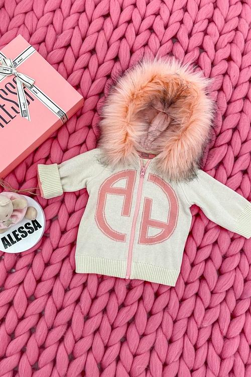 Alessa mini Лого Жилетка От Плетиво - крем