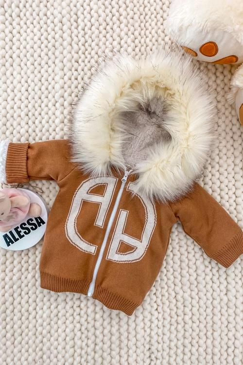 Аlessa mini яке от плетиво - мока
