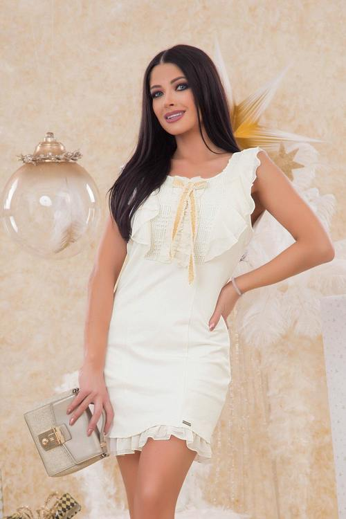 Soft Moon рокля със златна панделка