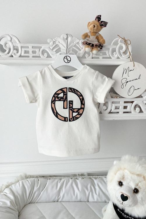 Alessa Luxury Logo mini T-Shirt - Екрю