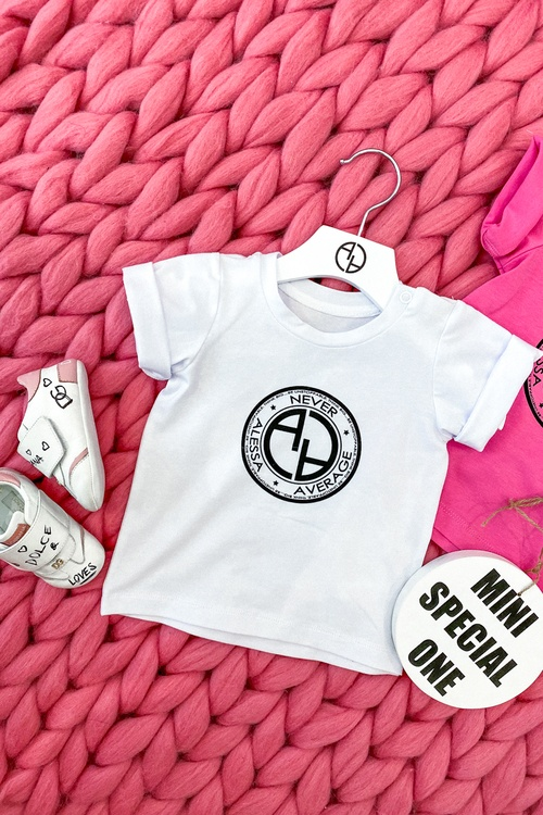 Always invited mini t-shirt с лого - бял