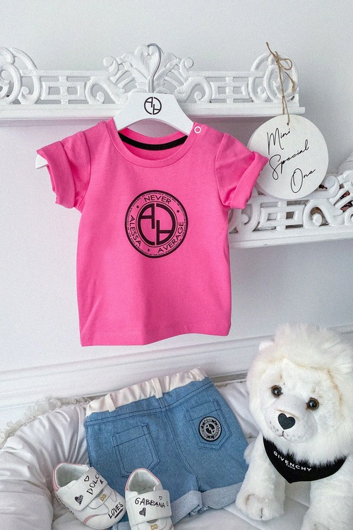 Always invited mini t-shirt с лого - фуксия