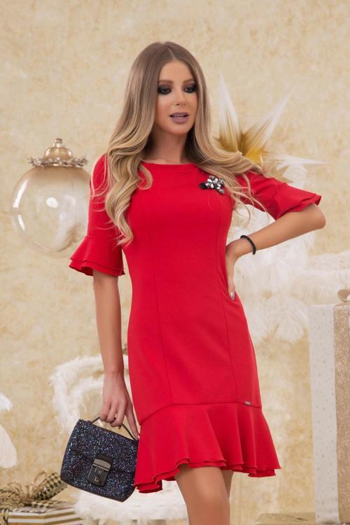 Miss Melania коктейлна рокля - червена