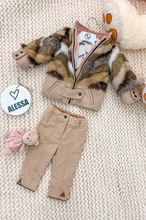 I'm into you Alessa mini топло палтенце от еко косъм