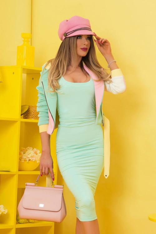 Minty flavor bodycon рокля