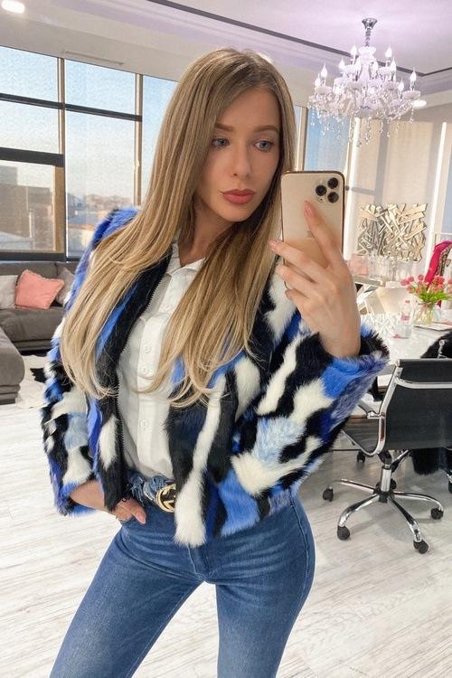 Fashion killa топло палтенце от еко косъм