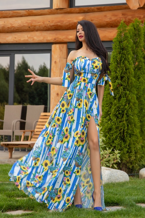 Keep on shining maxi рокля - синьо