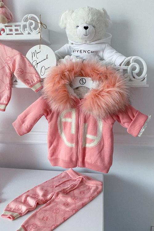 Аlessa mini Religion Панталон от плетиво - pink