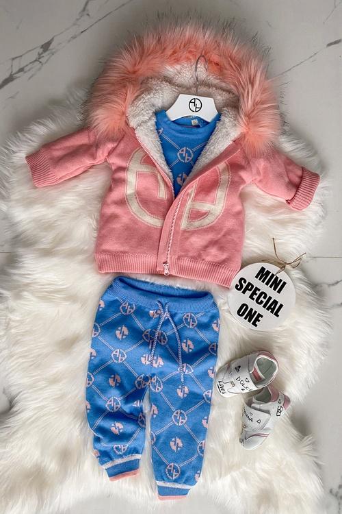 Аlessa mini Religion Панталон от плетиво - blue