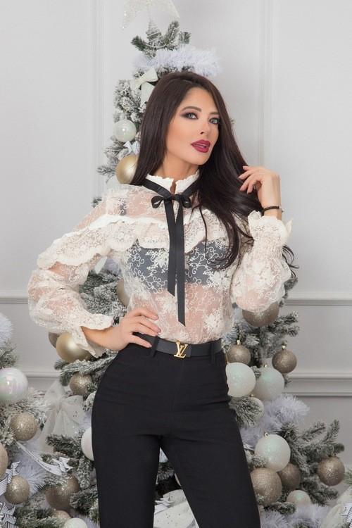 Feel my attitude блуза от дантела