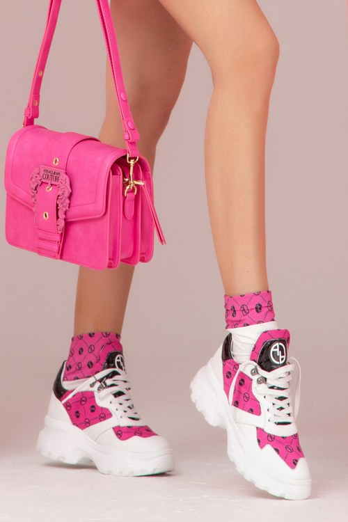 Alessa religion sneakers - циклама