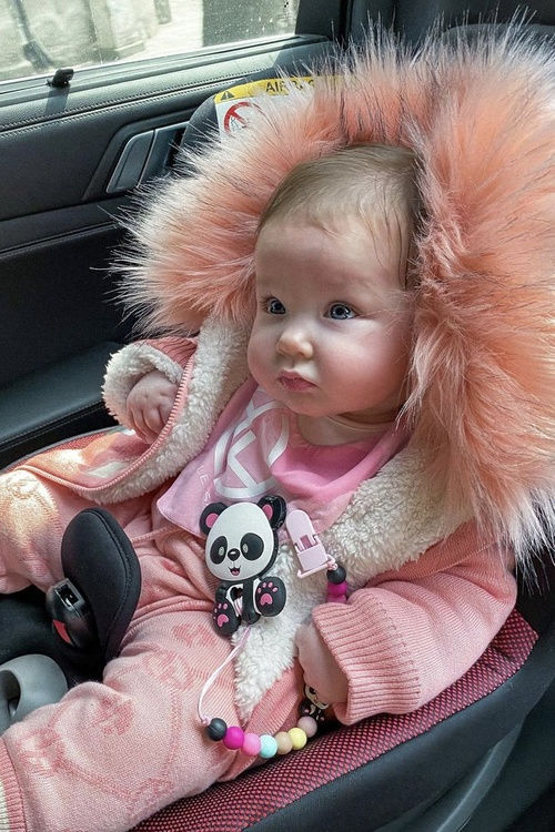 Alessa mini яке от плетиво - pink