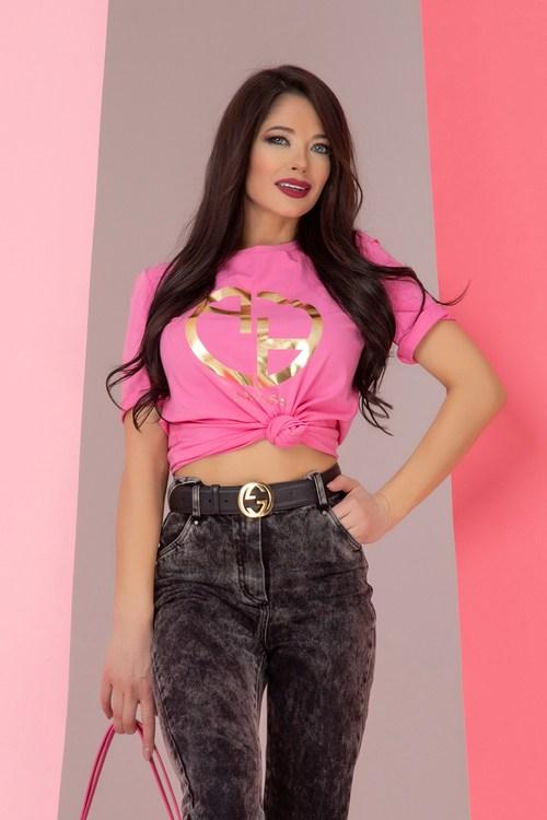 Alessa logo t-shirt - розов
