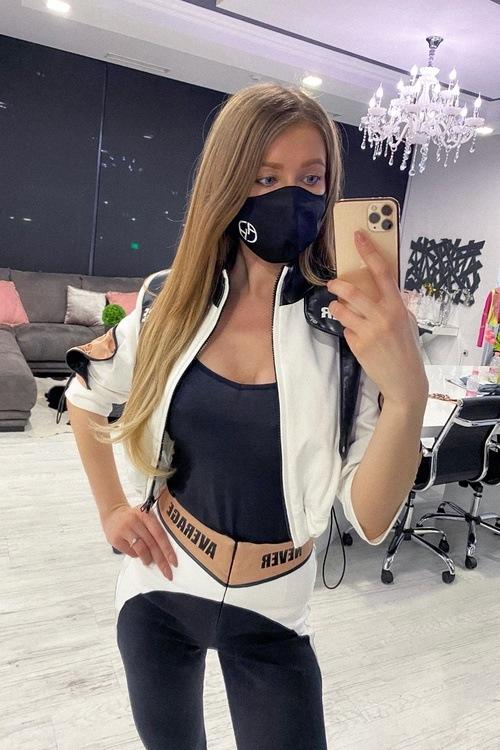 Черна маска с лого Alessa