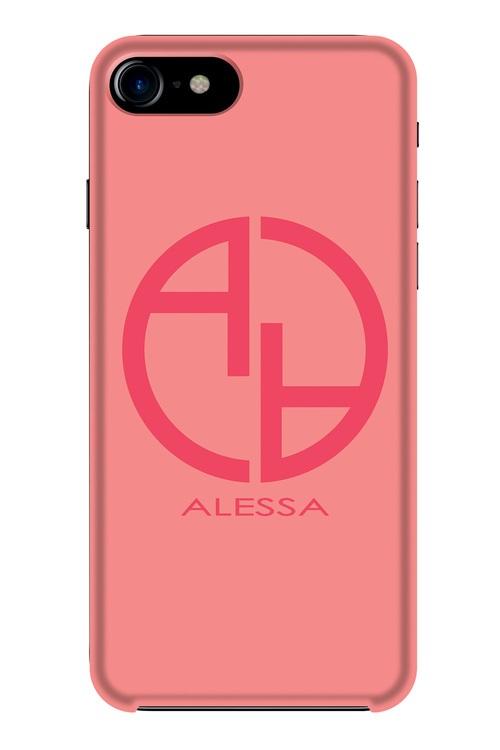 Alessa logo кейс - розов